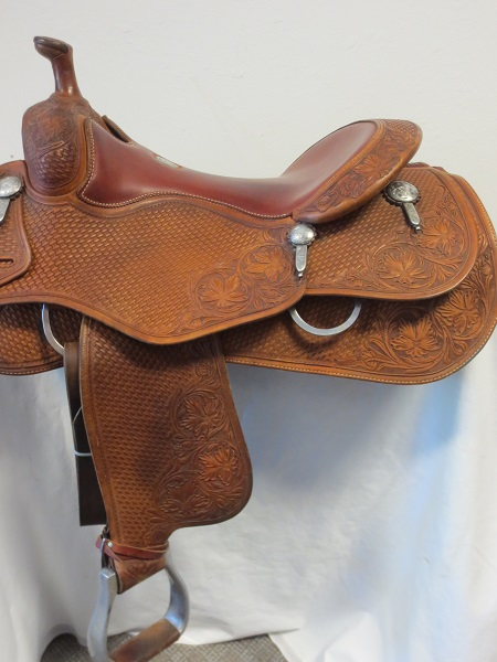 Used Saddle:Cowhorse Equipment Used MINT cowhorse/reiner 16inch- Image Number:2