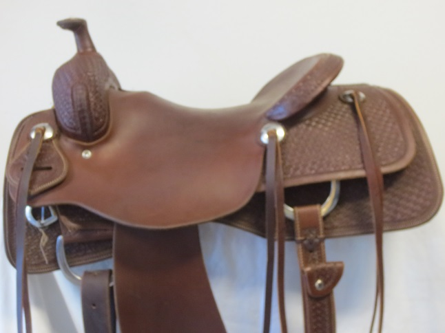 Used Saddle:Cowboy Collection Used MINT cowhorse/reiner 15.5inch- Image Number:3