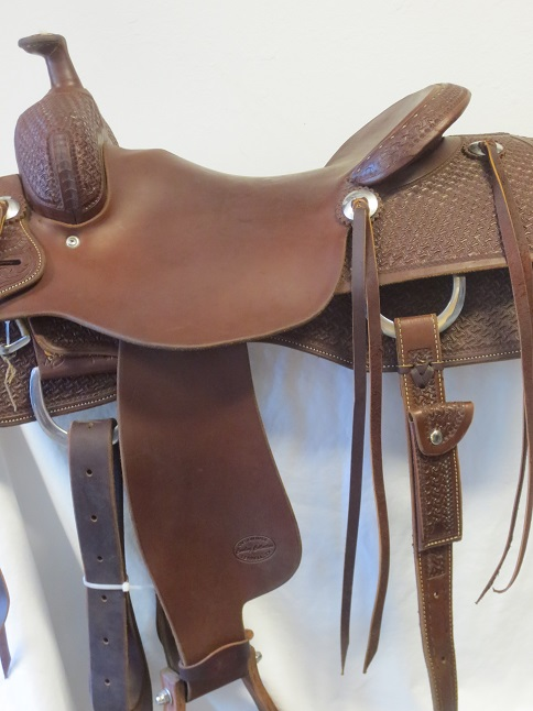 Used Saddle:Cowboy Collection Used MINT cowhorse/reiner 15.5inch- Image Number:2