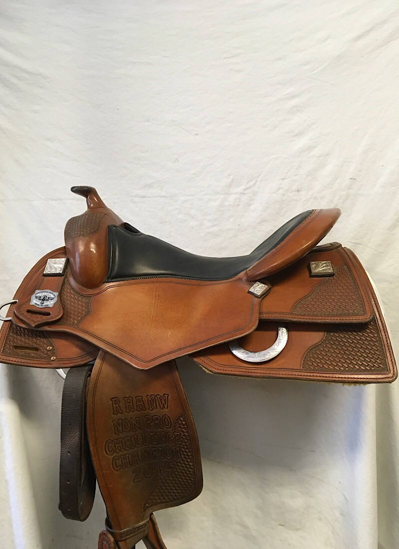 "Used Saddle:Continental Square Skirt Trophy Reiner 16.5""- Image Number:0"